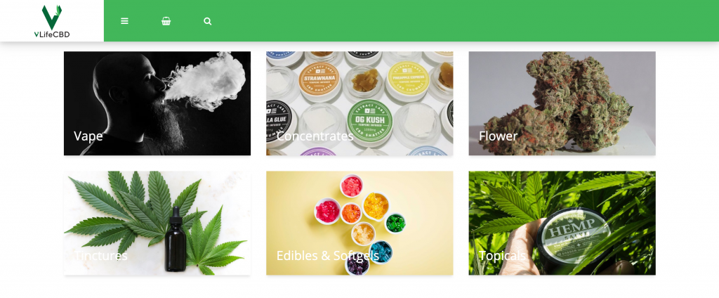 VLife CBD Online Shopping Experience